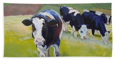 Holstein Friesian Cows Beach Sheet