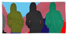 Hoodie Gang Graffiti Fashion Background Designs  And Color Tones N Color Shades Available For Downlo Beach Towel