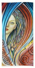Illusive Water Nymph 240908 Beach Towel by Selena Boron