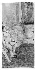 Illustration From La Maison Tellier Beach Towel