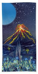 Beach Towel featuring the painting Interruption by Jason Girard