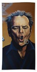 Jack Nicholson Painting Beach Sheet