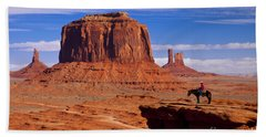 Beach Towel featuring the photograph John Ford Point Monument Valley by Brian Jannsen