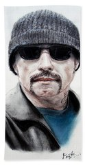 John Travolta In The Taking Of Pelham 123  Beach Sheet by Jim Fitzpatrick