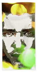 Beach Towel featuring the digital art Justin Timberlake by Svelby Art