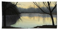 Lake Lene' Morning Beach Towel
