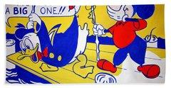Lichtenstein's Look Mickey Beach Towel by Cora Wandel