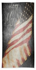 Long May She Wave Beach Towel