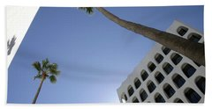 Beach Towel featuring the photograph Looking Up In Beverly Hills by Cora Wandel