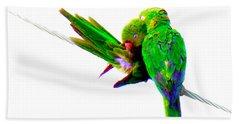 Love Birds Beach Towel by J Anthony