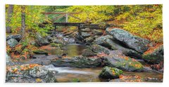 Beach Towel featuring the photograph Macedonia Brook by Bill Wakeley