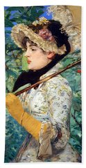 Beach Towel featuring the photograph Manet's Spring by Cora Wandel