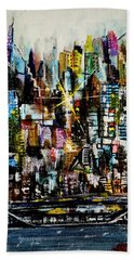 Manhattan Morning Beach Towel