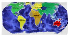 Map Of The World Beach Towel