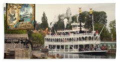 Mark Twain Riverboat Signage Frontierland Disneyland Beach Towel