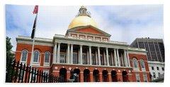 Massachusetts State House Boston Ma Beach Towel