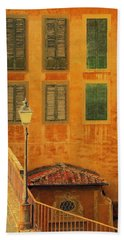 Beach Towel featuring the photograph Medieval Windows by Caroline Stella