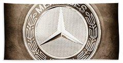 Mercedes-benz 6.3 Amg Gullwing Emblem Beach Towel