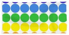 Mod Pop Mid-century Modern Circles Rainbow Beach Towel