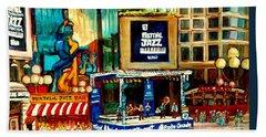 Montreal International Jazz Festival Beach Towel