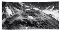 Beach Towel featuring the photograph Mt St. Helen's Crater by David Millenheft