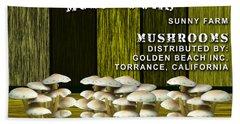 Mushroom Farm Beach Towel