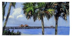 Naples Pier Naples Florida Beach Towel