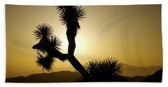 New Photographic Art Print For Sale Joshua Tree At Sunset Beach Towel