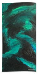 Beach Towel featuring the painting Northern Light by Jacqueline McReynolds