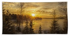 Beach Towel featuring the photograph Norway by Rose-Maries Pictures