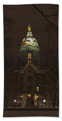Notre Dame Golden Dome Snow Beach Sheet