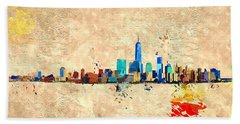 Nyc Grunge Beach Towel by Daniel Janda