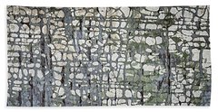 Old Painted Wood Abstract No.6 Beach Towel