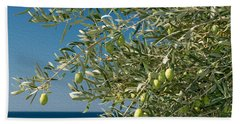 Olives 2 Beach Towel