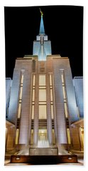 Oquirrh Mountain Temple 1 Beach Towel by Chad Dutson