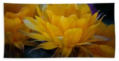 Orange Cactus Flowers  Beach Sheet