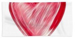 Painted Heart - Symbol Of Love Beach Towel