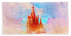 Beach Towel featuring the photograph Parish Of St. Michael The Archangel by John  Kolenberg