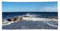 Beach Towel featuring the photograph Plum Island Landscape by Eunice Miller