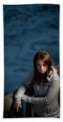 Portrait Of A Young Woman Endurance Beach Towel
