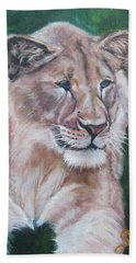 Queen Of The Beast,lioness Beach Towel