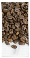 Beach Towel featuring the photograph Roasted Coffee Beans by Lee Avison