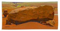 Rock Orange Beach Towel by Jim Hogg