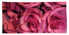 Rosebouquet In Pink Beach Towel