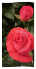 Roses In Red Beach Towel