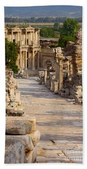 Beach Towel featuring the photograph Ruins Of Ephesus by Brian Jannsen