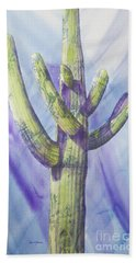 Saguaro In Winter Beach Towel