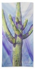 Saguaro In Winter Beach Sheet