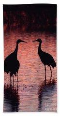 Sandhill Cranes Beach Sheet by Steven Ralser