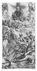 Scene From The Apocalypse Beach Towel by Albrecht Durer or Duerer